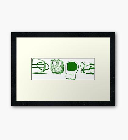 Dude Lebowski Framed Print