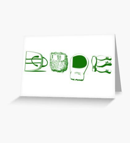 Dude Lebowski Greeting Card