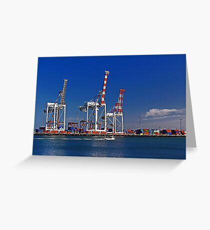 Fremantle Harbour - Western Australia  Greeting Card