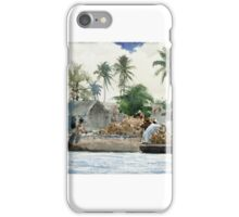 Winslow Homer,  SPONGE FISHERMEN, BAHAMAS iPhone Case/Skin