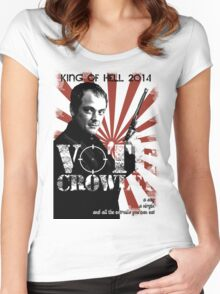 Vote For Crowley - Your King Of Hell! Women's Fitted Scoop T-Shirt