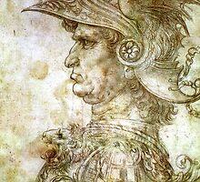 Leonardo da Vinci Man in Armour by LordNeckbeard