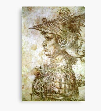 Leonardo da Vinci Man in Armour Canvas Print