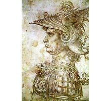 Leonardo da Vinci Man in Armour Photographic Print
