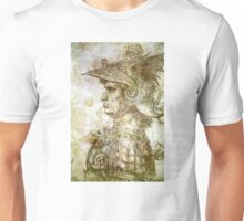 Leonardo da Vinci Man in Armour Unisex T-Shirt