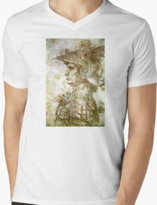 Leonardo da Vinci Man in Armour Mens V-Neck T-Shirt