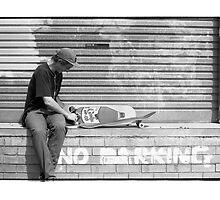 Luca Prestini setting up a fresh skateboard  by barrymansfield