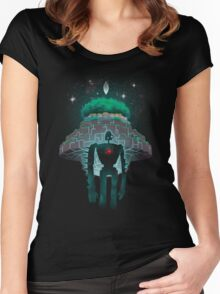 Night Castle in the Sky Women's Fitted Scoop T-Shirt