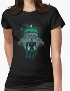 Night Castle in the Sky Womens Fitted T-Shirt