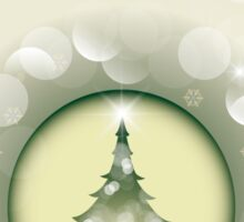 Beautiful Christmas Card - Merry Christmas and Happy New Year Sticker