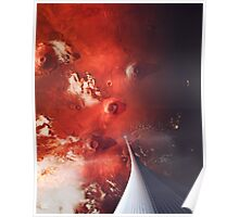 The Space Elevator to Mars - Descent At Dusk Poster