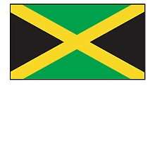 Jamaican Flag, Flag of Jamaica, pure & simple by TOM HILL - Designer