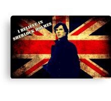SherlockBelieveUnionJack Canvas Print
