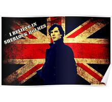 SherlockBelieveUnionJack Poster
