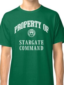 Property of Stargate Command Athletic Wear White ink Classic T-Shirt