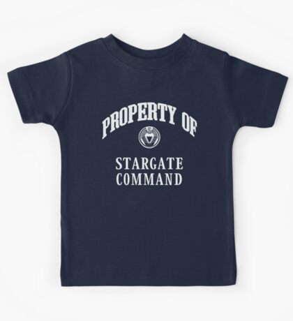 Property of Stargate Command Athletic Wear White ink Kids Tee