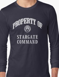 Property of Stargate Command Athletic Wear White ink Long Sleeve T-Shirt