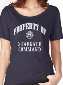 Property of Stargate Command Athletic Wear White ink Women's Relaxed Fit T-Shirt