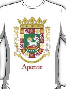 Aponte Shield of Puerto Rico T-Shirt