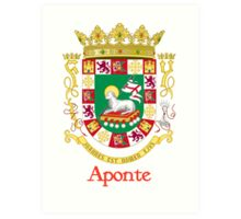 Aponte Shield of Puerto Rico Art Print