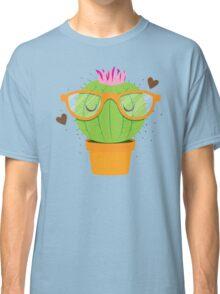 Super Kawaii Nerdy Hipster Cactus Classic T-Shirt