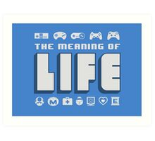 Meaning of Life = Gaming Art Print