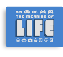 Meaning of Life = Gaming Canvas Print