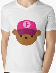 "ABC Bears - ""F Bear"" Mens V-Neck T-Shirt"