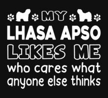 My Lhasa Apso Likes Me by bestdesignsever