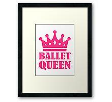Ballet Queen crown Framed Print