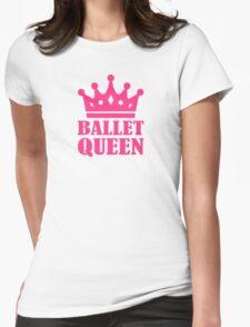 Ballet Queen crown Womens Fitted T-Shirt