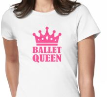Ballet Queen crown Womens Fitted T-Shirt