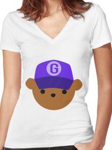 """ABC Bears - """"G Bear"""" Women's Fitted V-Neck T-Shirt"""