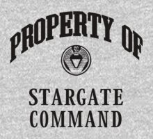 Property of Stargate Command Athletic Wear Black ink Kids Tee