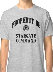 Property of Stargate Command Athletic Wear Black ink Classic T-Shirt