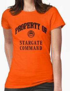 Property of Stargate Command Athletic Wear Black ink Womens Fitted T-Shirt
