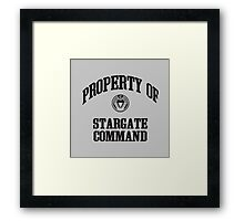 Property of Stargate Command Athletic Wear Black ink Framed Print