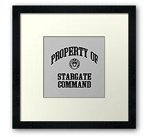 Property of Stargate Command Athletic Wear Black ink Framed Print