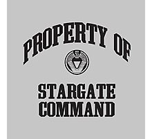 Property of Stargate Command Athletic Wear Black ink Photographic Print