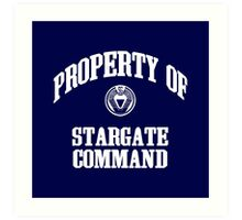 Property of Stargate Command Athletic Wear White ink Art Print
