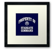 Property of Stargate Command Athletic Wear White ink Framed Print