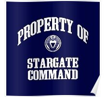 Property of Stargate Command Athletic Wear White ink Poster