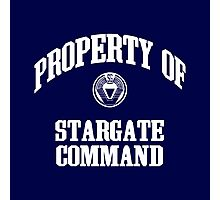 Property of Stargate Command Athletic Wear White ink Photographic Print