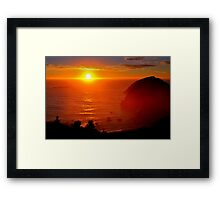 Oregon Coastal Sunset Framed Print
