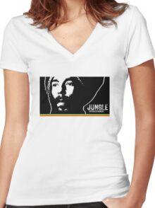 Jungle Revolutionist Women's Fitted V-Neck T-Shirt