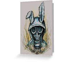 Smoking rabbit Greeting Card