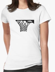 Basketball basket Womens Fitted T-Shirt