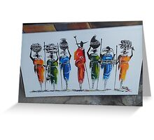 Amazing Continent Greeting Card