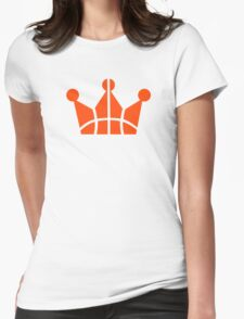 Basketball crown winner Womens Fitted T-Shirt