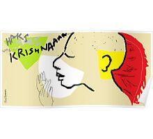 Female Head/Hari Krishna devotee -(120214)- Digital art/MS Paint Poster